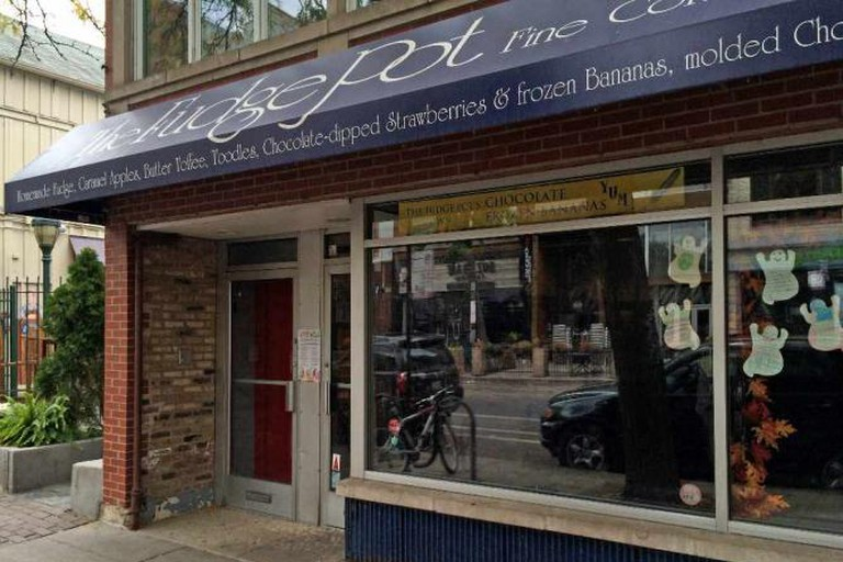 Outside of The Fudge Pot