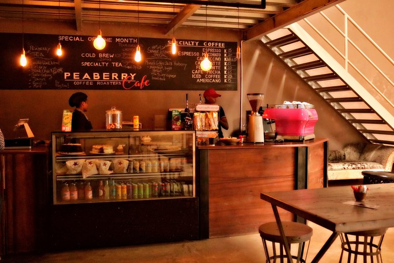 PeaBerry Cafe roasts your coffee on site