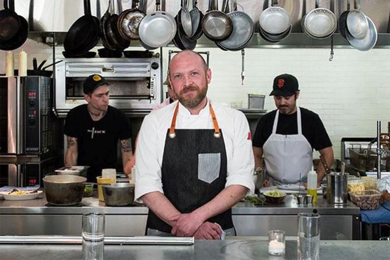 Chef Aaron Barnett at St. Jacks PDX
