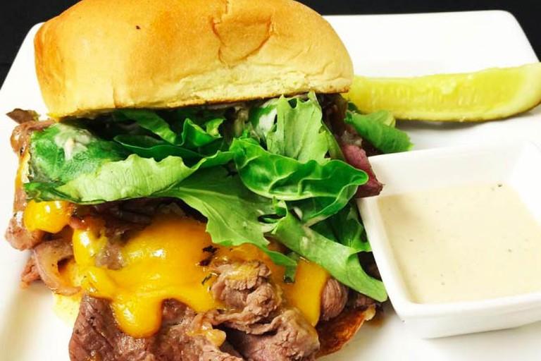 Beef and Cheddar Sandwich