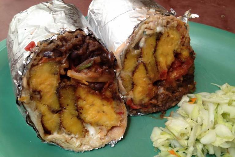 Fried Plantain Burrito
