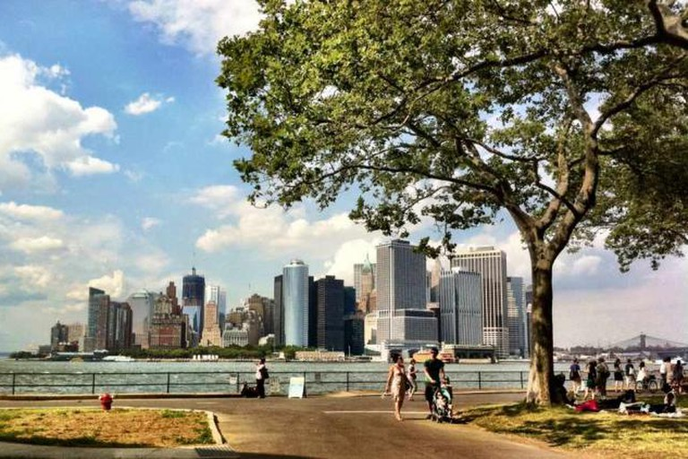 Lower Manhattan Skyline Viewed From Governors Island