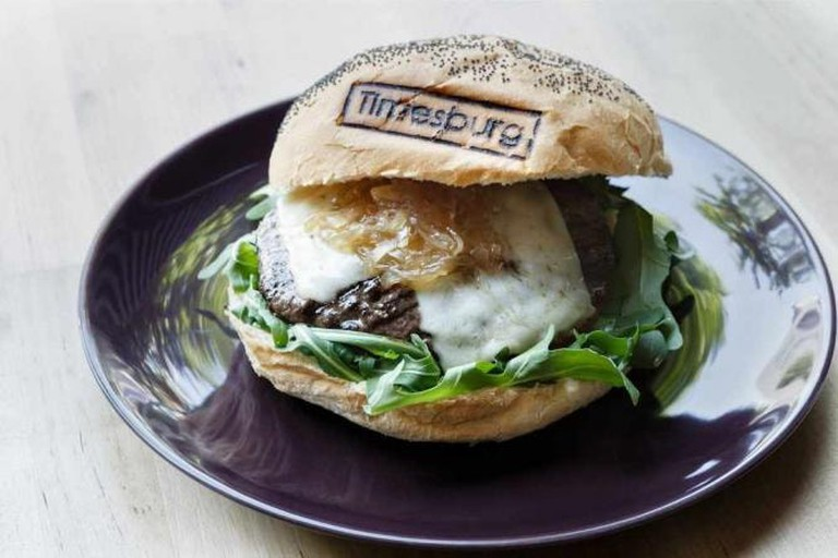A Timesburg burger Courtesy of Timesburg