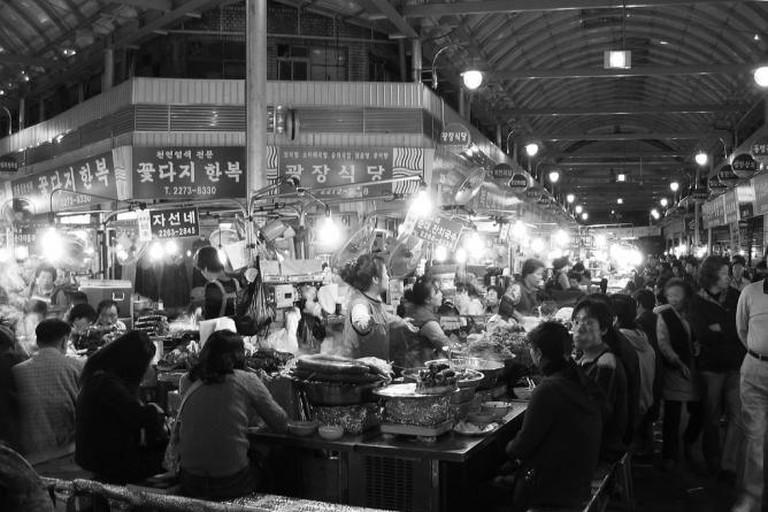 A Korean market