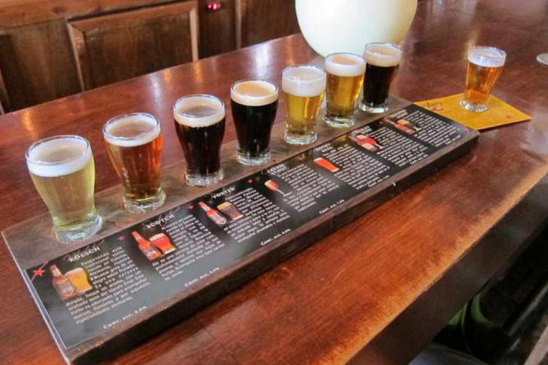A selection of Antares' beers