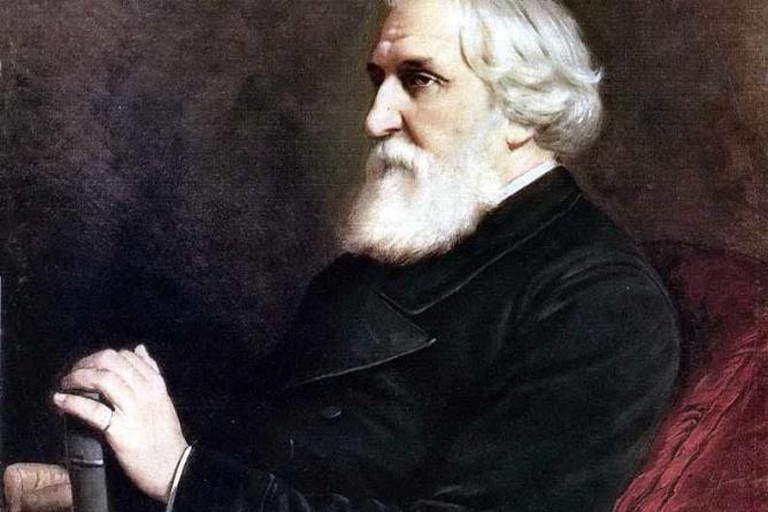 The portrait of Ivan Turgenev by Vasiliy Perov (1872)