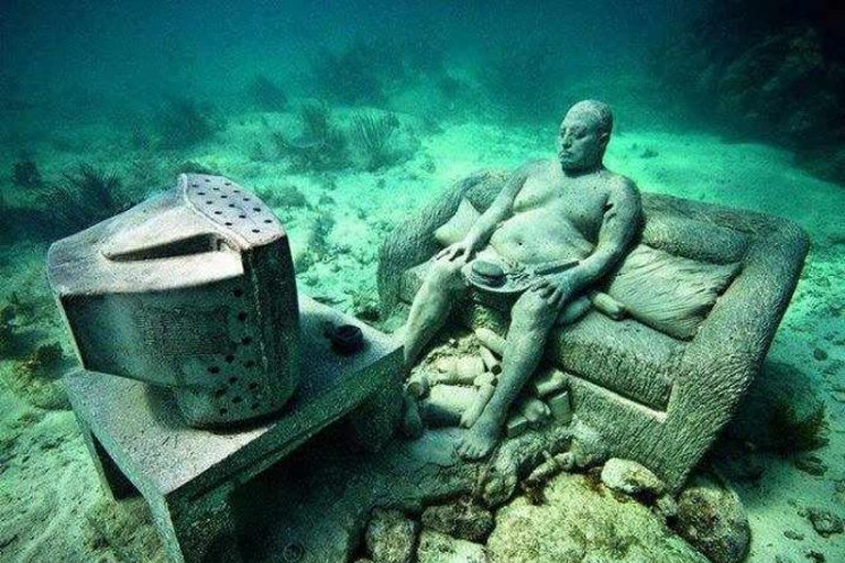 Sculpture from the Cancun Underwater Museum