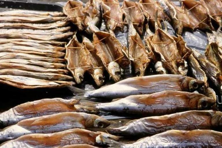 Fish markets in Russia