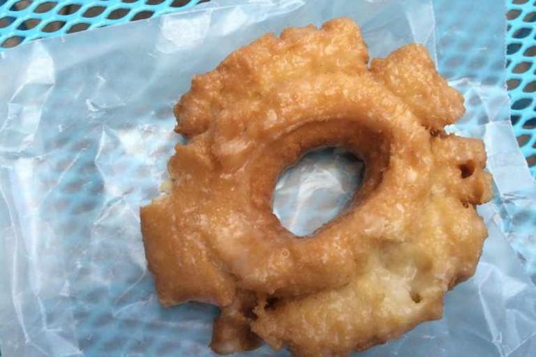 Traditional glazed donut at Firecakes