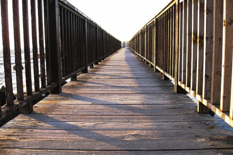 Bridge on Ballycastle Beach