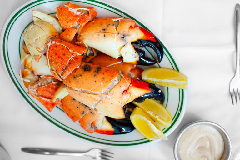 Jumbo stone crabs at Joe's Stone Crab.