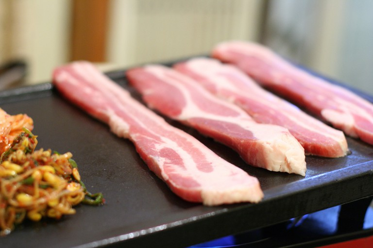 Samgyeopsal ready for the grill