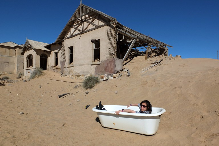 An old bath in Kolmanskop