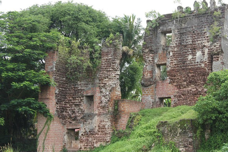 Remains of St Thomas Fort at Thangasseri