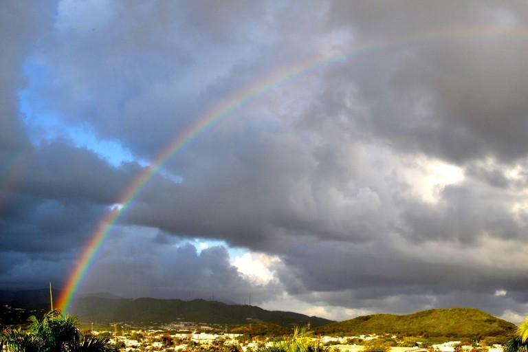 Even the sky is bursting with color in Fajardo