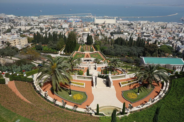 View of Haifa from the top of the Bahai Gardens