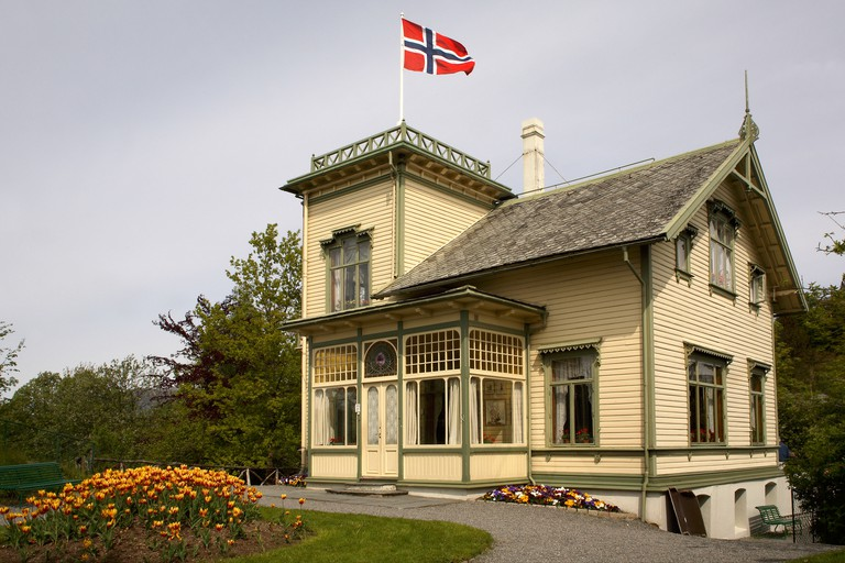 Grieg's home at Troldhaugen. Norway. Bergen.