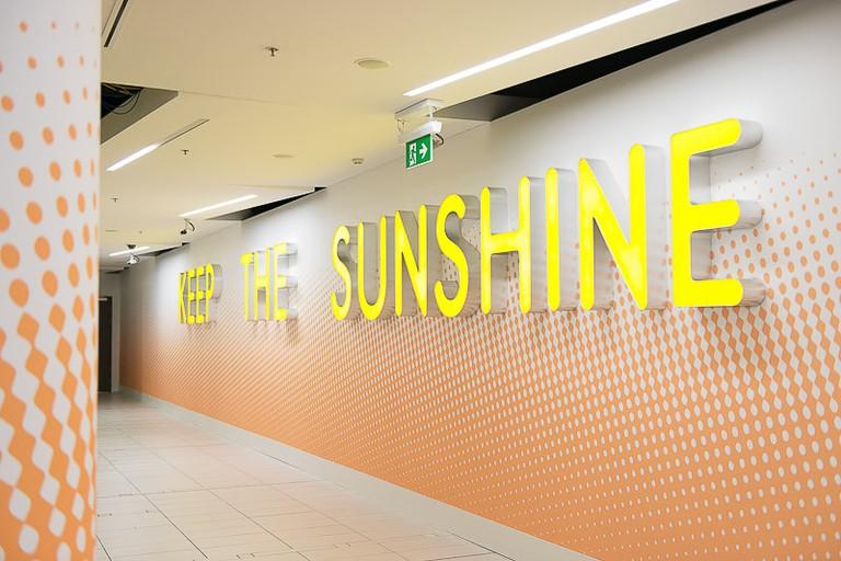 Artwork at Brisbane Airport International Terminal Building Departures area