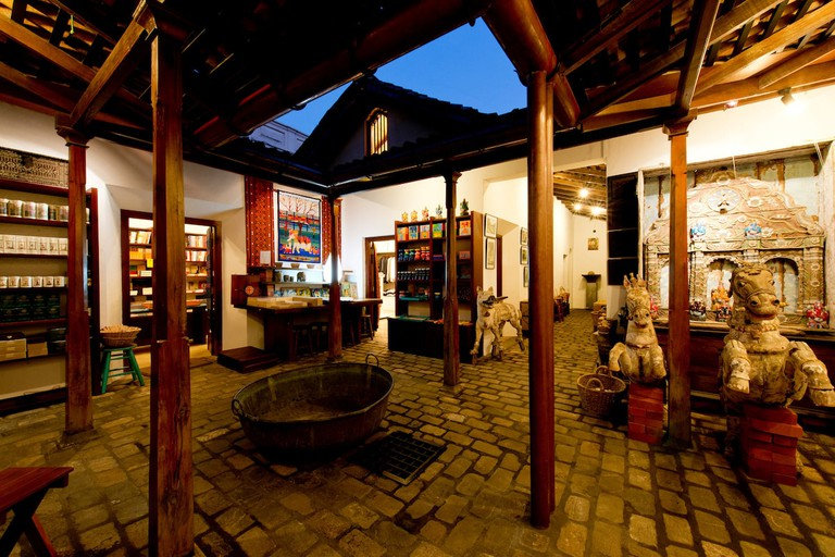 The courtyard of the BAREFOOT store in the Galle Fort.