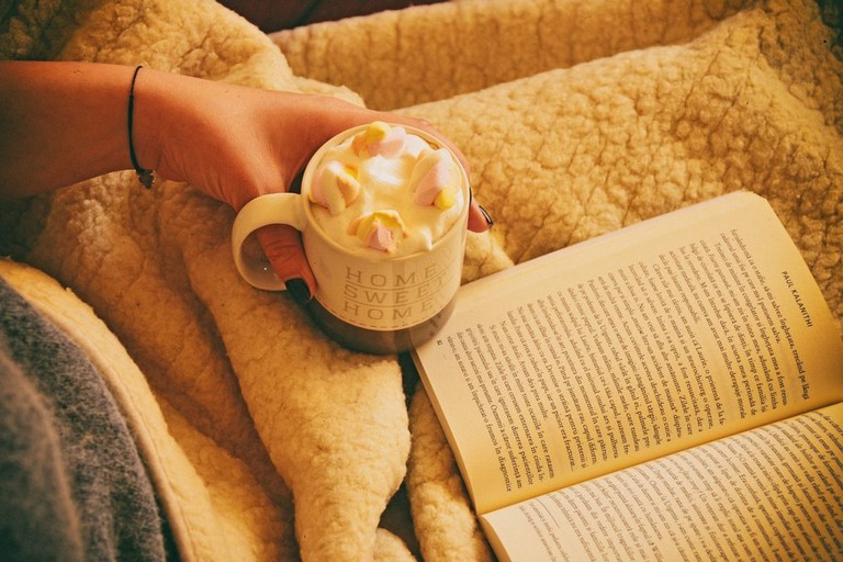 What is there to do in Algarve on a cool, rainy day? Curl up with a book.