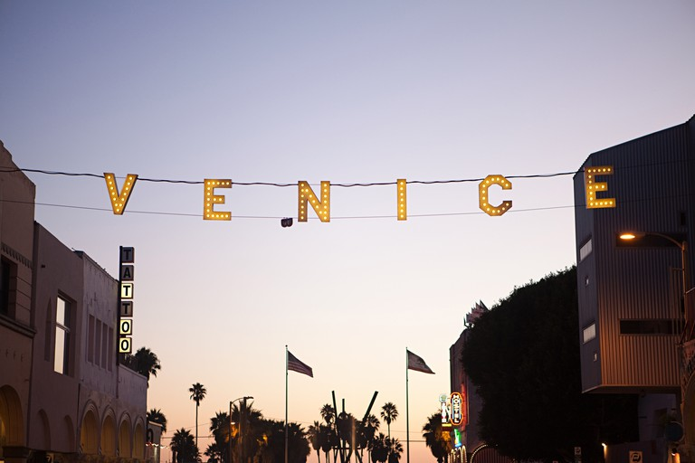 Venice Beach at Main Street and Ocean, Los Angeles County, California, USA