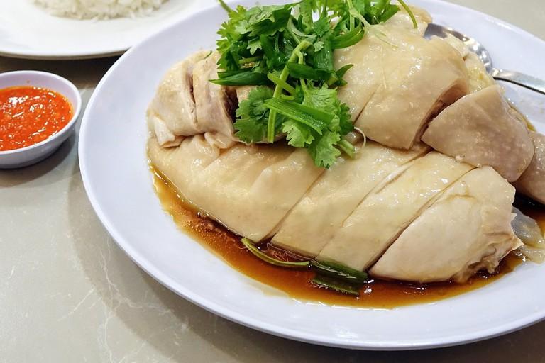 Hainanese Chicken Rice Steamed Chicken