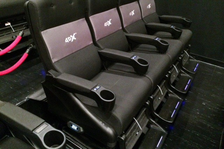 4DX chairs found in one of the cinema rooms at JK Iguatemi Shopping, SP