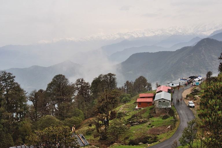 Landscape view of Himalaya from Chopta valley
