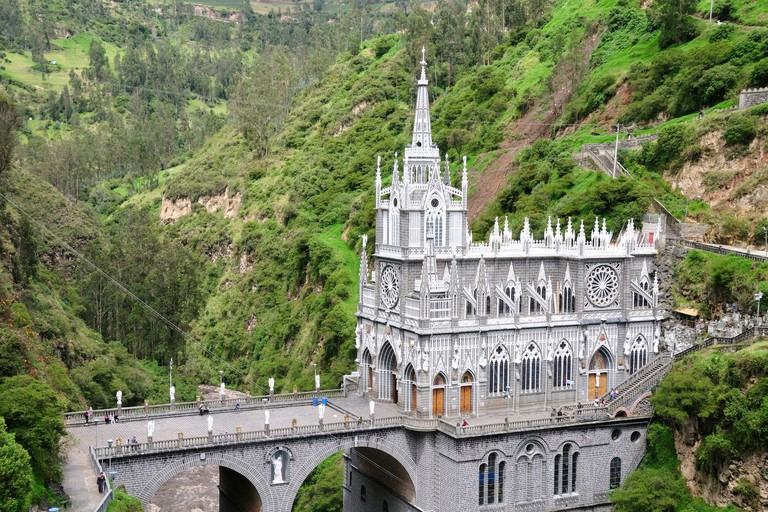 Santuario de las Lajas, Pilgrim, church, gothic, style, Las Lajas, Colombia, South America