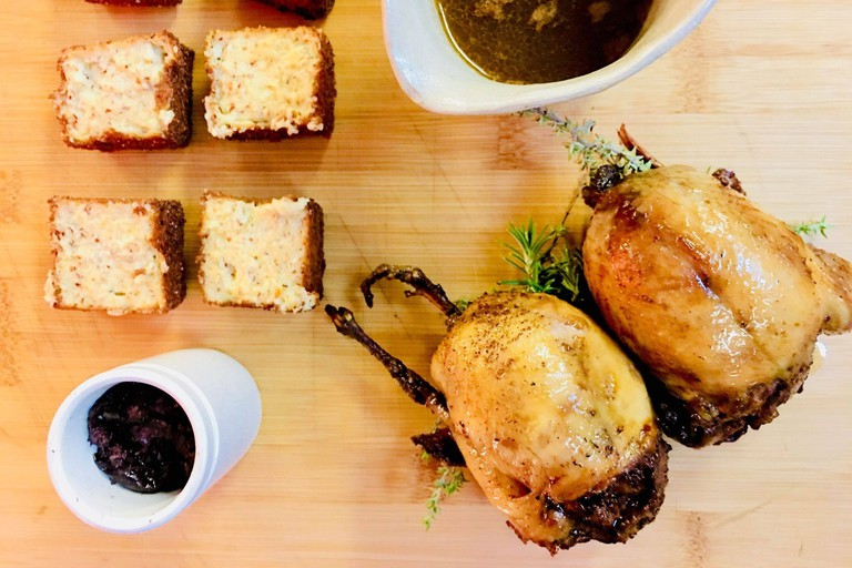 Try the delicious stuffed quails at Le Prince Noir