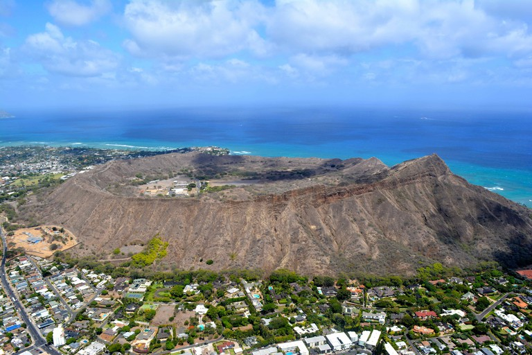 Ariel views of Diamond Head, Oahu | © GE Keoni
