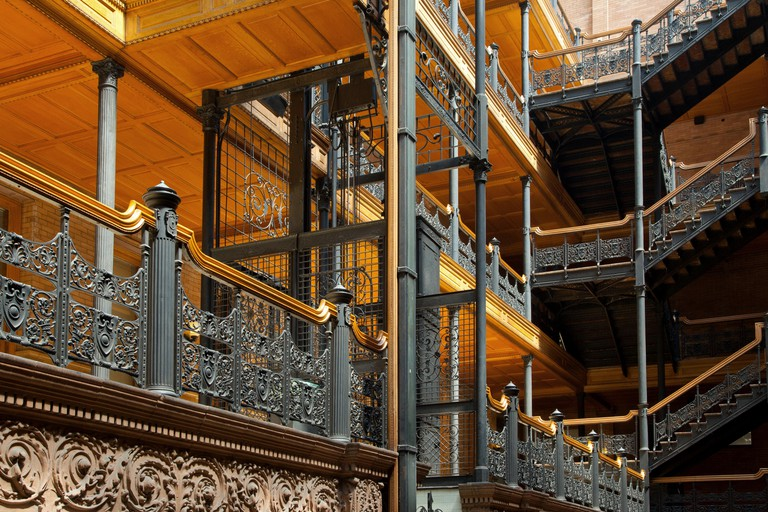 The Bradbury Building in Los Angeles.