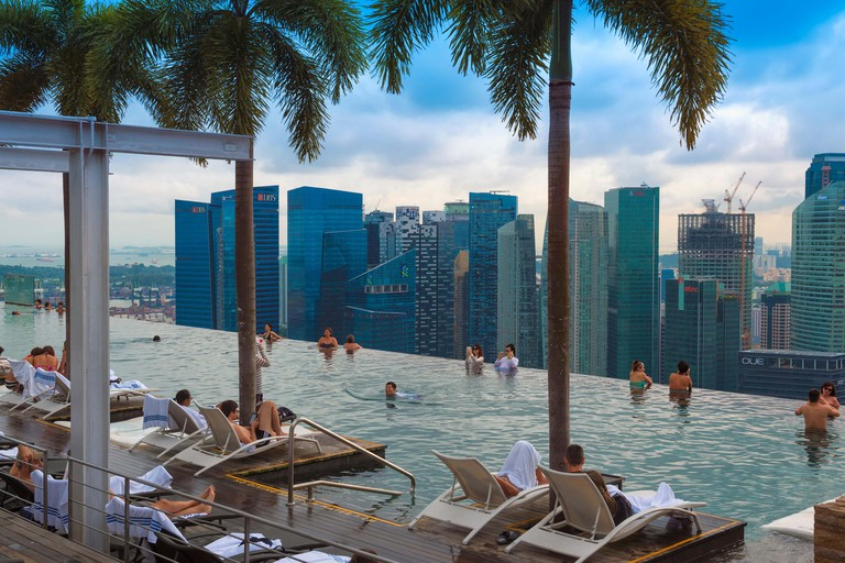 Infinity pool of the Marina Bay Sands, Singapore