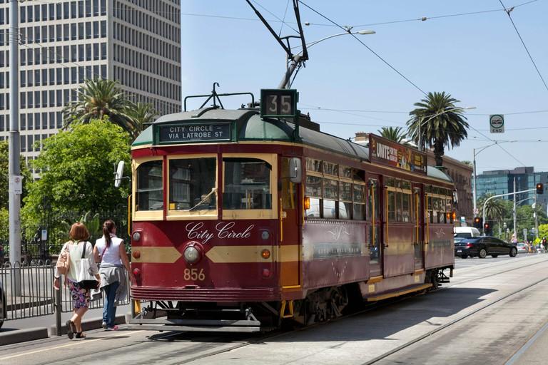 City circle tram in Melbourne, Australia