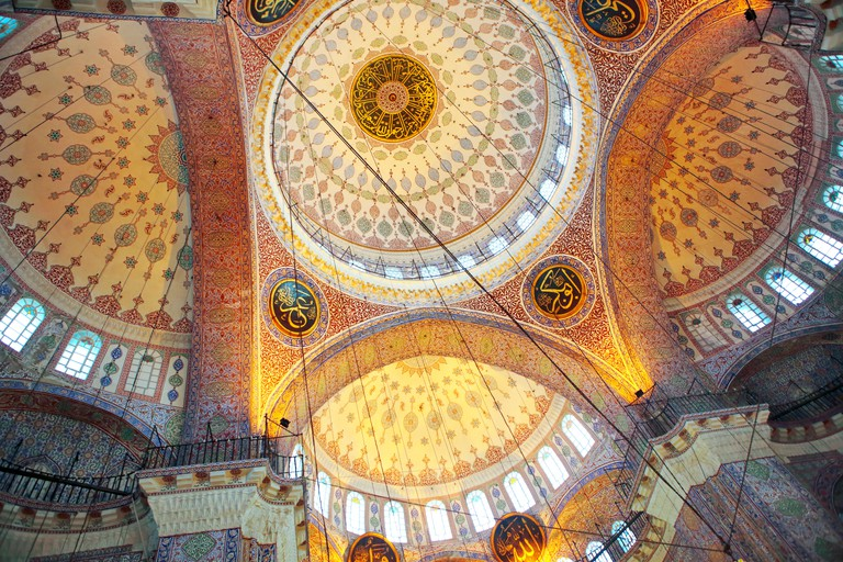 Interior of New Mosque or Yeni Cami (1665), Istanbul, Turkey