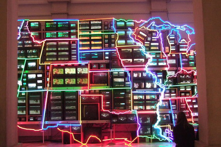 Electronic Superhighway, 1995-96 (Nam June Paik)