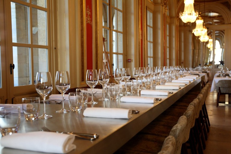 Enjoy your meal in this fantastic venue Courtesy of le Quatrième Mur