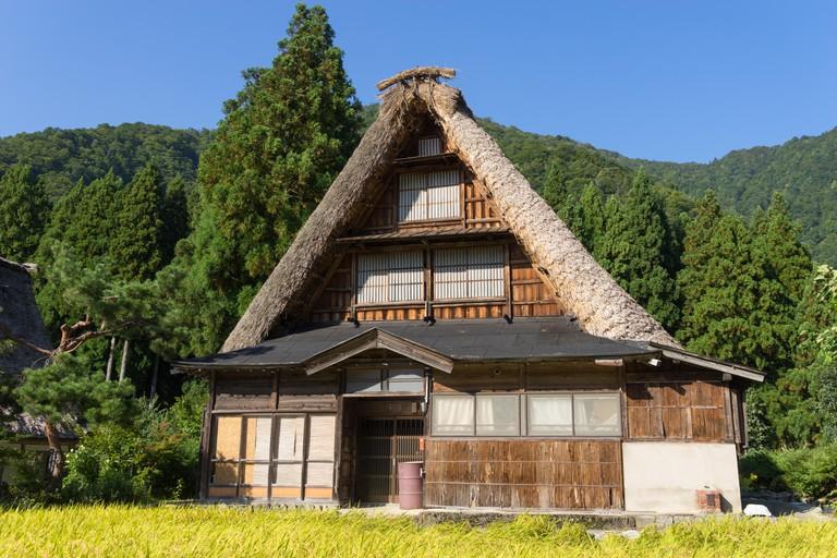 Gassho Zukuri (Gassho-style) House in Suganuma area of Gokayama, Japan