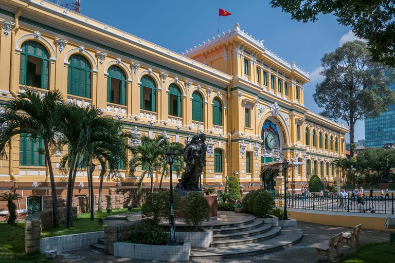 Viet Nam. Vietnam. East Asia. The neo classical Saigon Central Post Office. Ho Chi Minh Ho Chi Minh city. Saigon