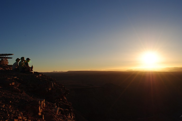 Sunset in the Fish River Canyon