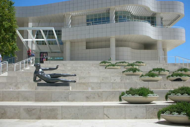 The Getty in Los Angeles is designed by Richard Meier.