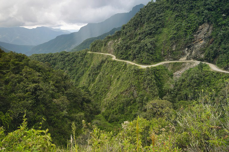 The Death Road, the most dangerous road in the world, North Yungas, Bolivia
