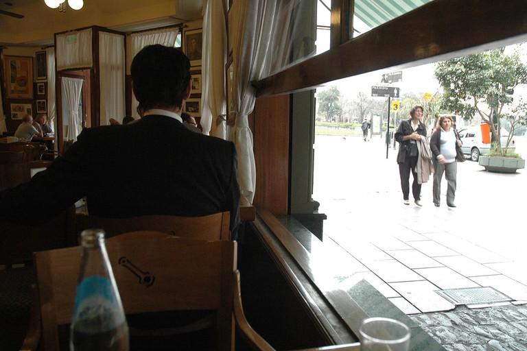 A window seat in La Biela