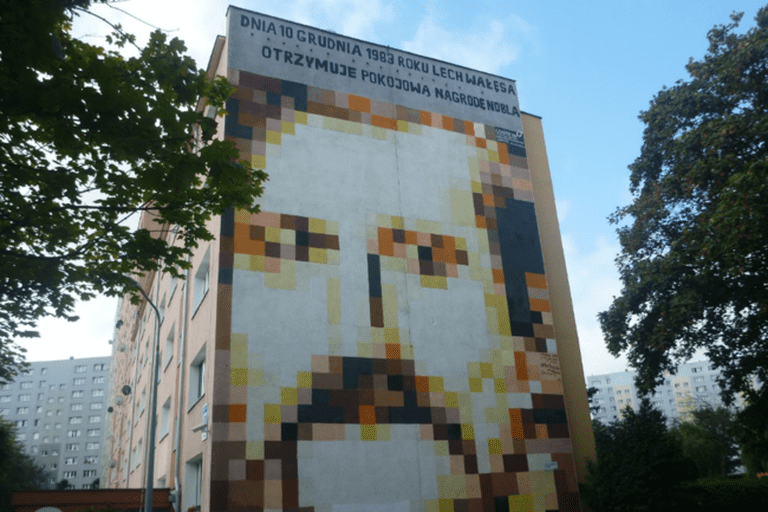 """Lech Wałęsa"" Mural in Zaspa"
