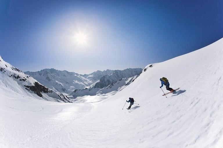 Skitour Hohe Wasserfalle, Stubaier Alpen, Tirol, …sterreich.