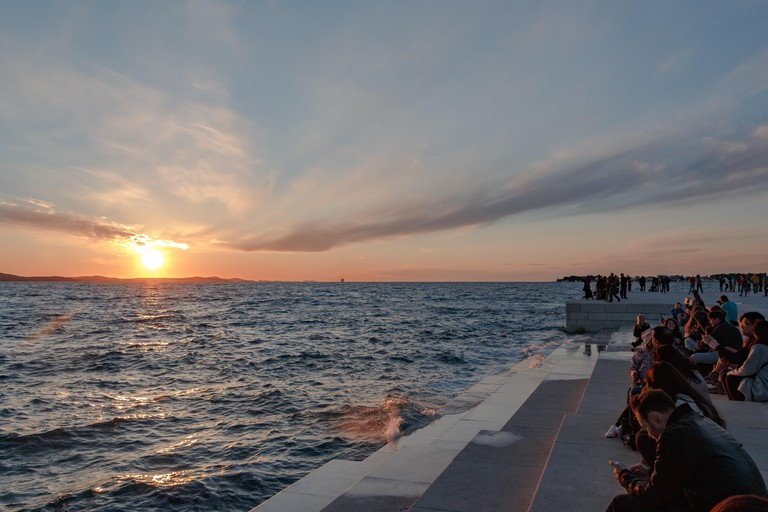 Zadar at sunset