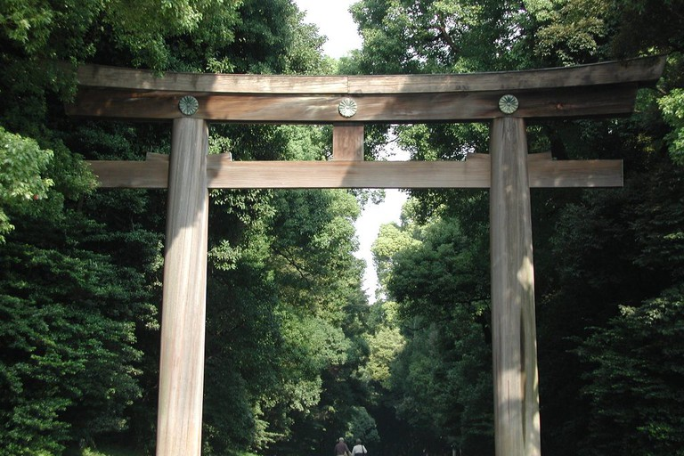 Initial Torii at Meiji Shrine