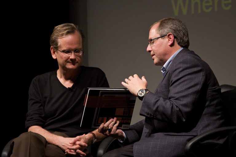 John Hollar interviewing Lawrence Lessig on his book Remix: Making Art and Commerce Thrive in the Hybrid Economy at the Computer History Museum