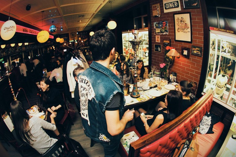 Experience an old-school American diner at Grizzly Bar