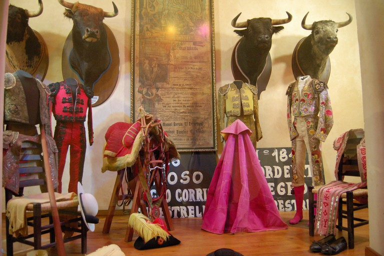 Exhibits at Ronda's bullfighting museum